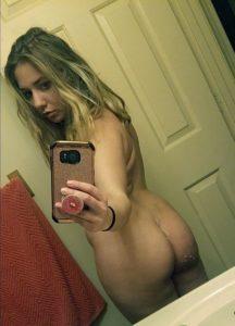 Blondine Nackt Foto Selfie